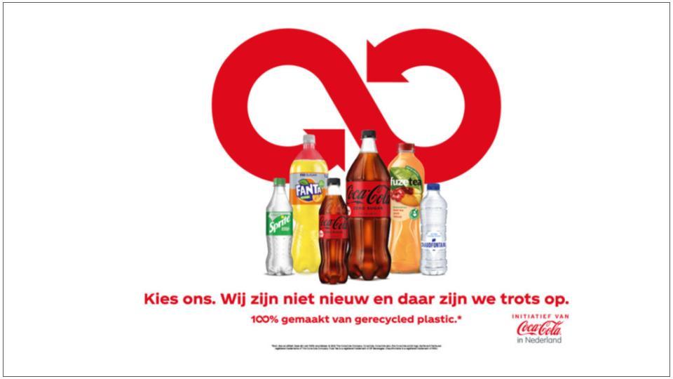 Coca-Cola gaat volledig over op gerecycled plastic