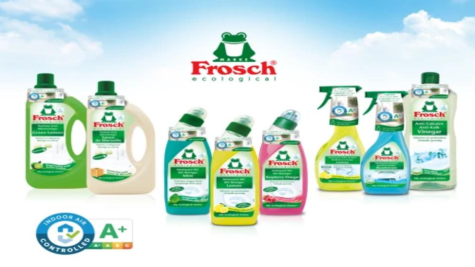 Frosch fles uit 100% gerecycled HDPE
