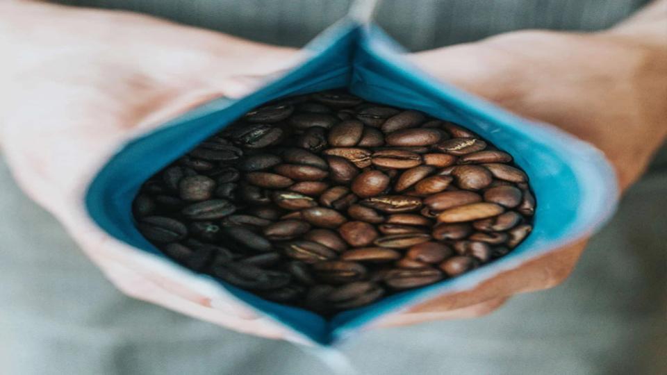 Biologische afbreekbare koffiecups.