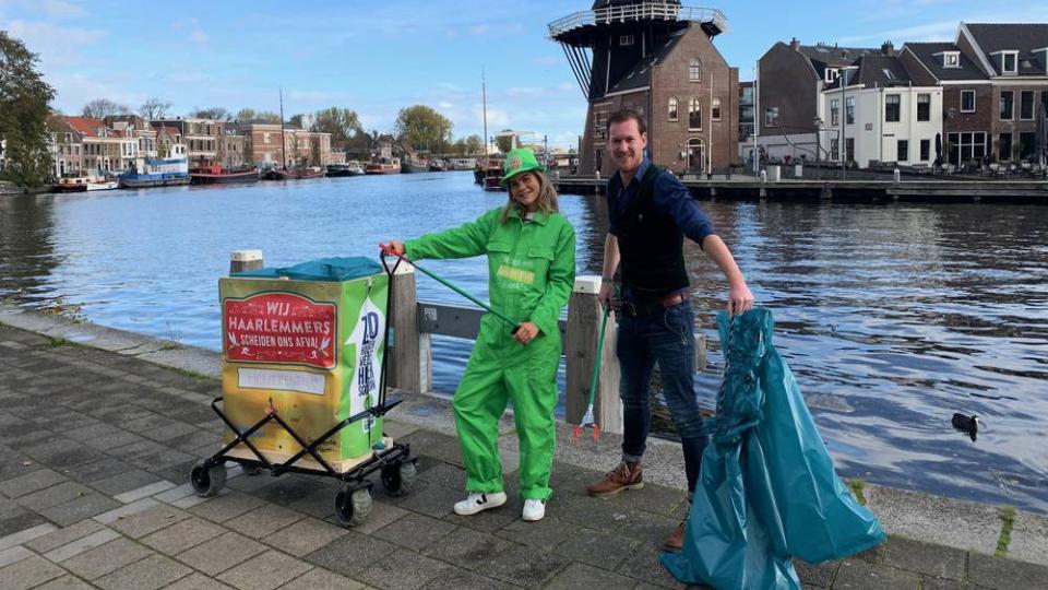Groene Muggen tegen zwerfafval Haarlem