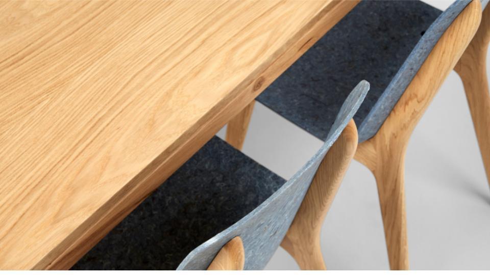 Circulair meubelmerk Planq succesvol met stoelen van oude jeans