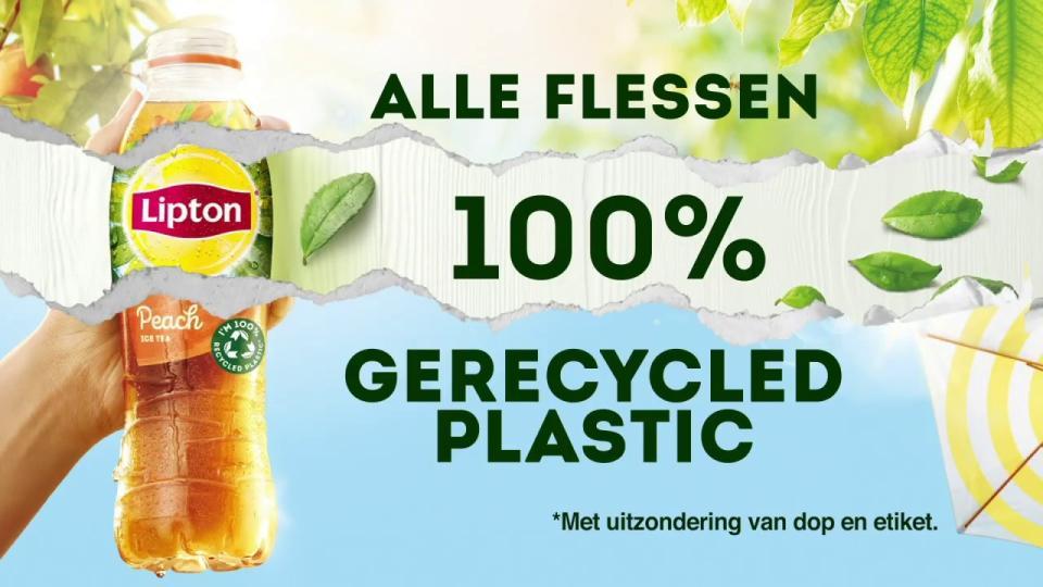 Lipton gaat vanaf 2020 volledig over op flessen gemaakt van 100% gerecycled plastic