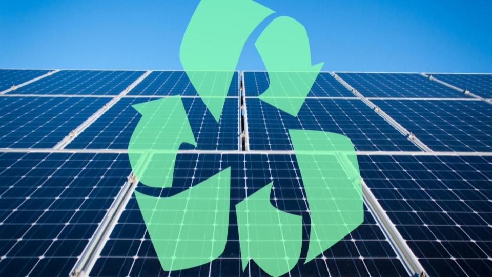 Het recyclen van zonnepanelen
