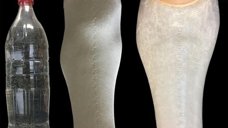 Afgedankt plastic voor goedkope nieuwe protheses