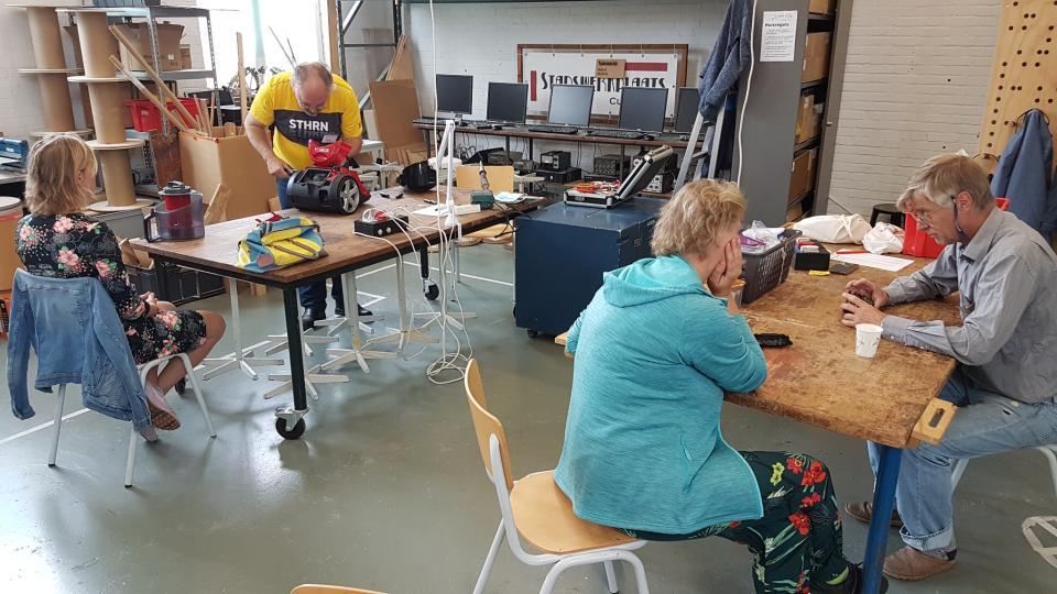 Apparaat repareren bij Repair Café