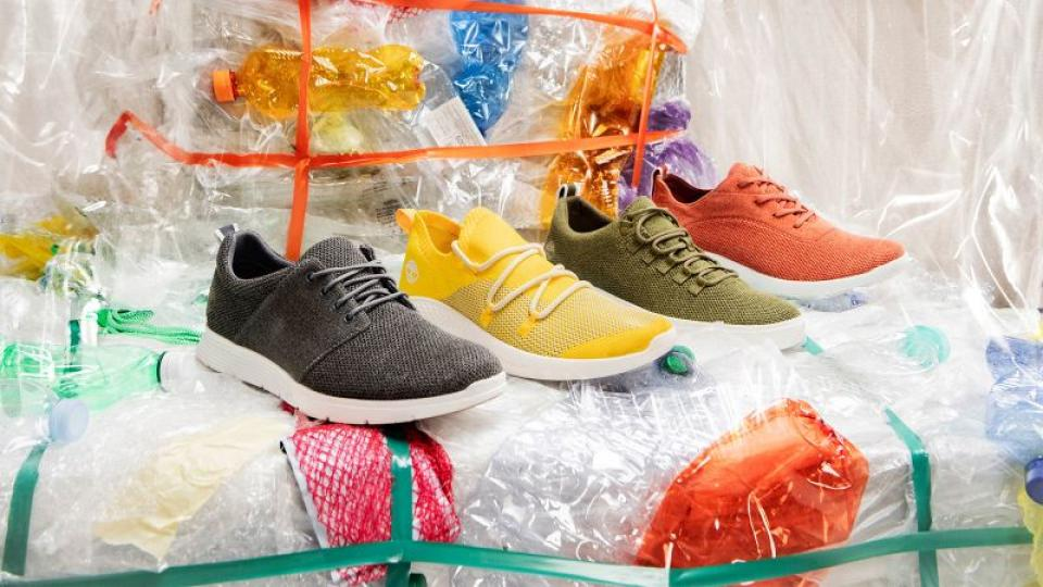 Timberland maakt sneakers van gerecyclede petflessen